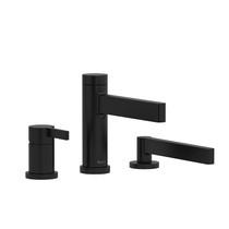 Riobel Paradox 3-Piece Type P (Pressure Balance) Deck-Mount Tub Filler with Hand Shower Matte Black