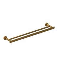 "Riobel Paradox 60 cm (24"") Double Towel Bar Brushed Gold - PX6BG"