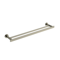 "Riobel Paradox 60 cm (24"") Double Towel Bar Brushed Nickel - PX6BN"