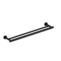 "Riobel Paradox 60 cm (24"") Double Towel Bar Matte Black - PX6BK"