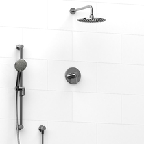 Riobel Premium Thermostatic System With Hand Shower Rail And Shower Head Chrome Finish