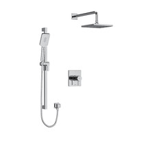 "Riobel Premium Type T/P 1/2"" Coaxial Thermostatic System with Hand Shower Rail and Shower Head Chrome"