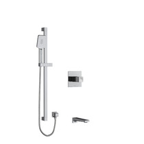 "Riobel Reflet 1/2"" 2-Way Type T/P Coaxial System with Spout and Hand Shower Rail Chrome"