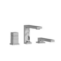 Riobel Reflet 2-Way 3-Piece Type T (Thermostatic) Coaxial Deck-Mount Tub Filler with Hand Shower Brushed Chrome