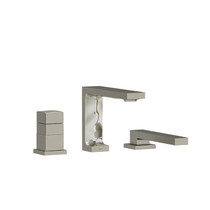 Riobel Reflet 2-Way 3-Piece Type T (Thermostatic) Coaxial Deck-Mount Tub Filler with Hand Shower Brushed Nickel