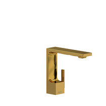 Riobel Reflet Single Hole Lavatory Faucet No Drain Brushed Gold