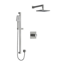 "Riobel Reflet Type T/P 1/2"" Coaxial 2-Way System with Hand Shower and Shower Head Brushed Chrome"