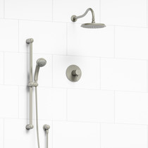 Riobel Retro 2-Way Thermostatic Shower System Brushed Nickel Finish