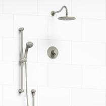 Riobel Retro 2-Way Thermostatic Shower System Brushed Nickel Finish