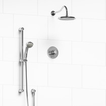 Riobel Retro 2-Way Thermostatic Shower System Chrome Finish