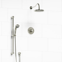 Riobel Retro 2-Way Thermostatic Shower System Polished Nickel Finish