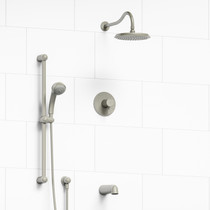 Riobel Retro 3-Way Thermostatic Shower System Brushed Nickel Finish