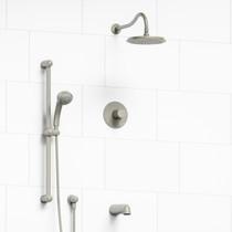 Riobel Retro 3-Way Thermostatic Shower System Brushed Nickel Finish