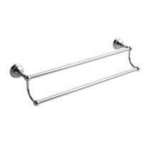 "Riobel Retro 60 cm (24"") Double Towel Bar Chrome - RT6C"