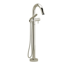Riobel Riu 2-Way Type T (Thermostatic) Coaxial Floor-Mount Tub Filler with Hand Shower Polished Nickel