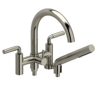"Riobel Riu 6"" Tub Filler with Hand Shower Brushed Nickel"