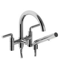 """Riobel Riu 6"""" Tub Filler with Hand Shower Chrome"""