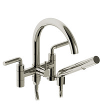 "Riobel Riu 6"" Tub Filler with Hand Shower Polished Nickel"
