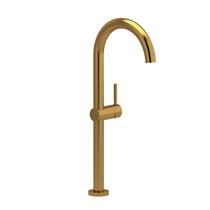 Riobel Riu Long Single Hole Lavatory Faucet Brushed Gold