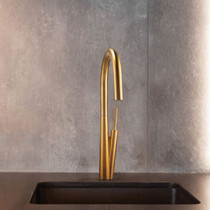 Riobel Solstice Kitchen Faucet with Spray Brushed Gold
