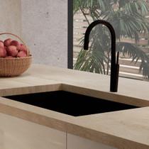 Riobel Solstice Kitchen Faucet with Spray Matte Black