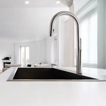 Riobel Solstice Kitchen Faucet with Spray Stainless Steel