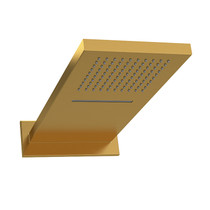 Riobel Square Rain and Cascade Shower Head Brushed Gold