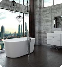 """Neptune Rouge Amaze F1 59"""" Oval Freestanding Tub White (AZ3260F10)"""
