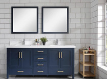 "Armada 65"" Blue Double Sink Bathroom Vanity"