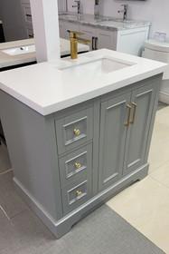 """Virginia 36"""" Bathroom Vanity in Grey"""