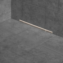 Zitta In Wall Shower drain Rough & Trim Brushed Stainless