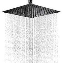"Royal Rain Shower Head 16"" x 16"" Matt Black"