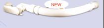 Royal Flex Drain Hose w/PancakeTrap for bathtub