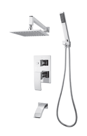 Rubi Fall Shower kit pressure balanced 3 ways diverter Chrome