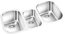 "Triple Bowl Under Mount Kitchen 32 3/8"" x 17 3/8"""