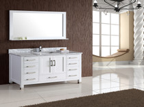 "Armada 60"" Single Sink Bathroom Vanity White"