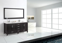 "Armada 72"" Double Sink Bathroom Vanity Espresso"