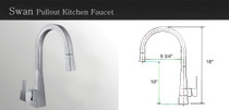 Castle Bay Swan Kitchen Faucet Stainless Steel