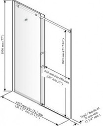Kalia Rollax Square - Sliding Doors Shower Enclosure 60 x 77