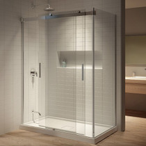 "Kalia Akcess Corner Shower Enclosure 60'' X 36"" X  77''  Double Access Door & Side Panel*DISPLAY*"