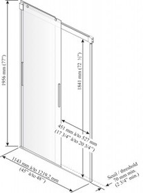 Kalia AKCESS sliding panel shower door 48''x 77''