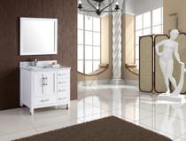 "Armada 44"" Bathroom Vanity White - Left Hand Sink"