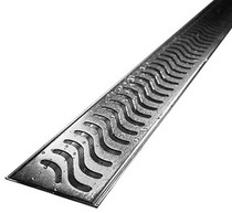 "Stainless Linear Shower Drain Base & Cover 24"" x 2.75"""