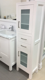 """Armada Side Linen Cabinet Tower White 16"""""""