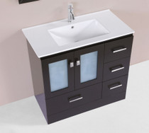 "Hamilton 36"" Espresso Single Modern Bathroom Vanity"