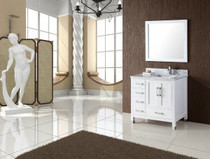 "Armada 44"" Bathroom Vanity White - Right Hand Sink"