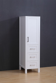 "Armada Side Column Linen Tower White 68"" H x 18.5 x 22"" D"