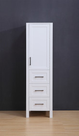 "Armada Side Column Linen Tower White 78"" H x 18.5 x 22"" D"