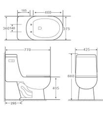 Crown Rolan Single Flush One Pc Toilet * ONLINE EXCLUSIVE *