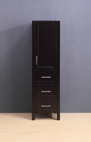 "Armada Side Column Linen Tower Espresso 78"" H x 18.5"" x 22"" D"